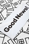 Good News and Home Sign — Stock Photo