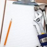 Home Repairing plan — Stock Photo