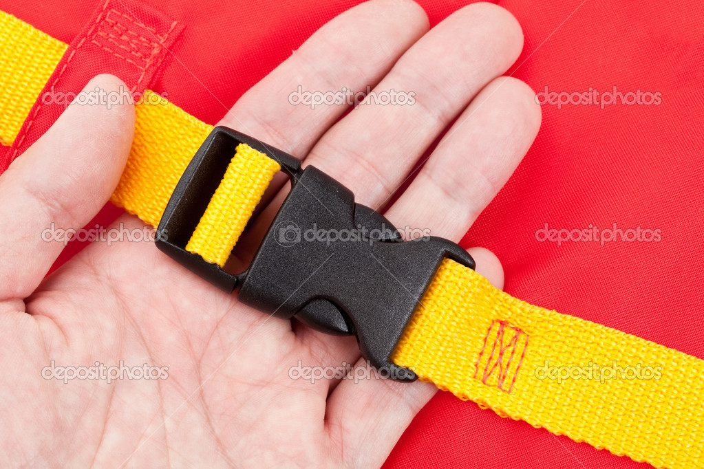 Life Jacket Buckle close up — Stock Photo #9090584