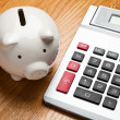 White Piggy Bank — Stock Photo #9117638