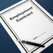 Stock Photo: Employment Contract