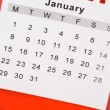 Calendar January — Stock Photo