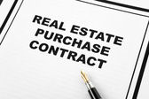 Real Estate Purchase Contract — Stock Photo
