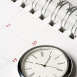 Stock Photo: Calendar and clock