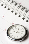 Calendar and clock — Stock Photo