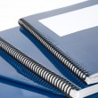 Blue school textbook — Stock Photo #9417074