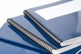 Blauwe school leerboek — Stockfoto