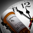 Stock Photo: Clock and Pill Bottle