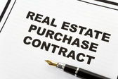 Real Estate Purchase Contract — Стоковое фото