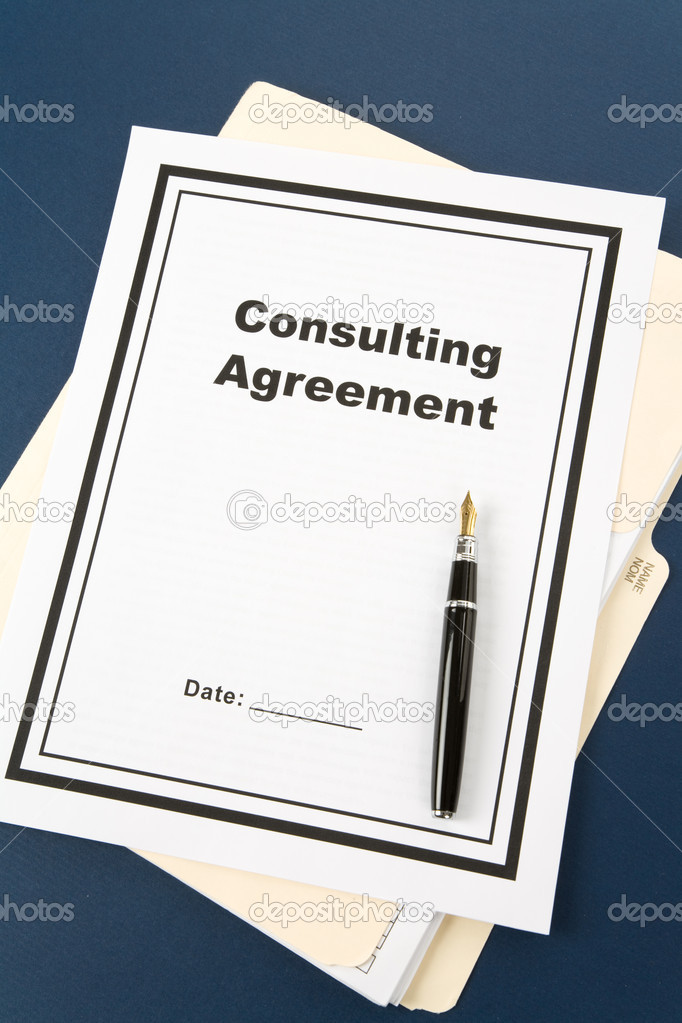Consulting Agreement and pen close up  Stock Photo #9496870