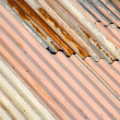 Rusty metal roof - Foto Stock