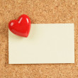 Red Heart and Note Pad — Stock Photo