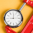 Vise Grip and Clock — Stock Photo #9525003
