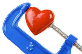 Vise Grip and red heart — Stock Photo