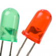 Green Red LED — Stock Photo #9569745