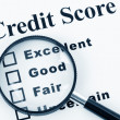 Stock Photo: Credit Score