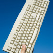 Computer Keyboard and blue sky — Stok fotoğraf