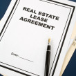 Real Estate Lease Contract — Stock Photo #9754119