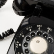 Black telephone — Foto Stock