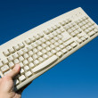 Computer Keyboard and blue sky — Stock Photo #9801288