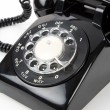 Black telephone - Stock Photo