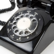 Stock Photo: Black telephone