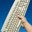 Computer Keyboard and blue sky — Stock Photo