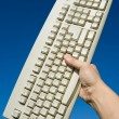 Computer Keyboard and blue sky — Stock Photo #9926886