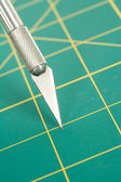 Cutting Mat and Knife — Stock Photo