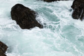 Rock and wave — Stock Photo