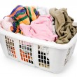 Laundry basket and dirty clothing — Stock Photo #9938036