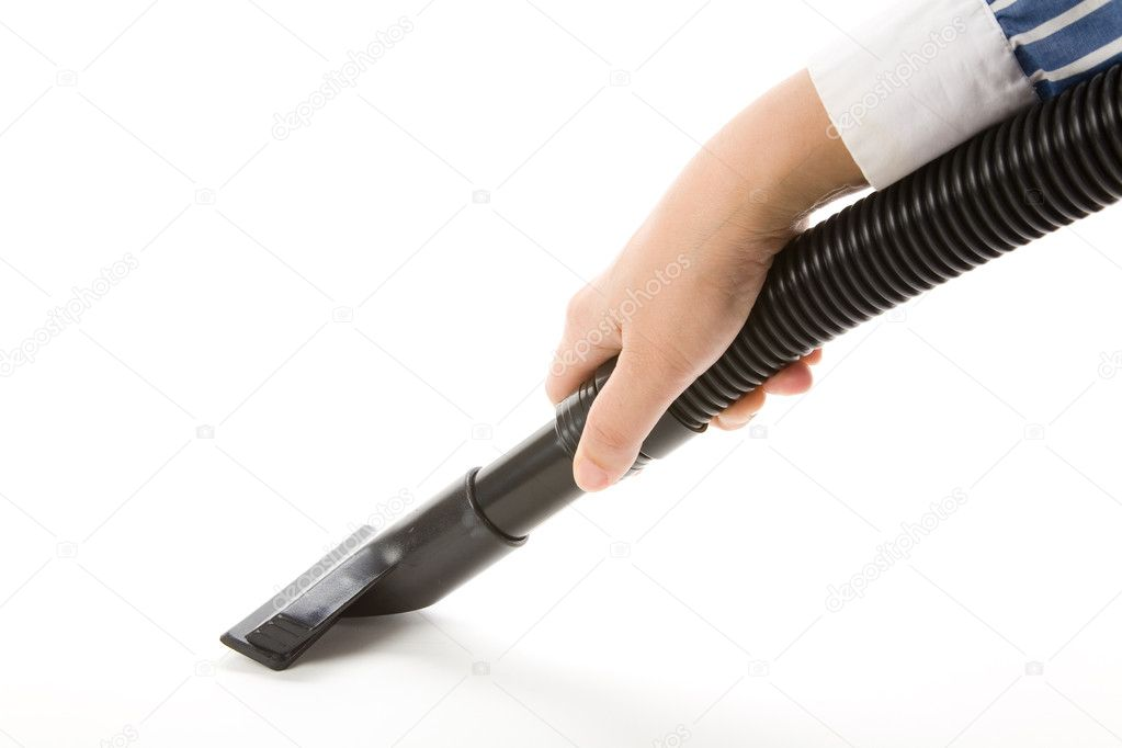 Vacuum Cleaner with Corrugated Tube — Stock Photo #9938173