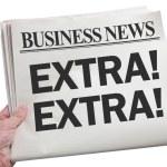 Business News Extra — Stock Photo