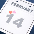 Calendar Valentine&#039;s Day - Stock Photo