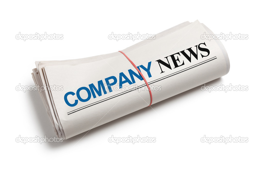 Company News, Newspaper roll with white background — Stock Photo #9955768