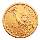 One dollar coin. — Stock Photo