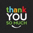 Thank You So Much - Stock Vector