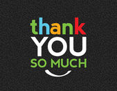 Tack så mycket — Stockvektor