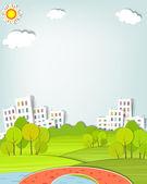 Il paesaggio urbano — Vettoriale Stock