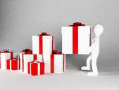Mnoho dárků speciálně pro dovolenou — Stock fotografie