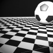 Stock Photo: Soccer ball in interior