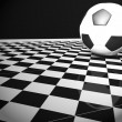 Stock fotografie: Soccer ball in interior