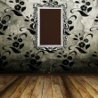 Big old mirror on the vintage wall — Stock Photo #10610688