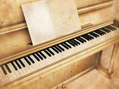 Antique piano — Stock Photo