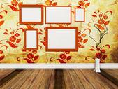 Muchos cuadros en la pared — Foto de Stock