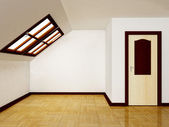 Interior attic room with a window — Stock Photo