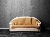 Interior design scene with a nice brown — Stock Photo