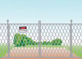 Mesh fence — Stock Vector