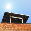 Solar Panel on Roof - Stock Photo