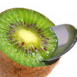 Stock Photo: Kiwifruit ready to eat